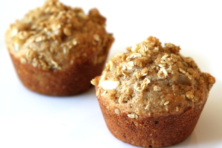 Pear and Oat Crumble Muffins