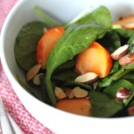 Spinach Salad with Persimmons and Almonds