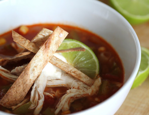 Light and Healthy Chicken Tortilla Soup | Wandering Spice