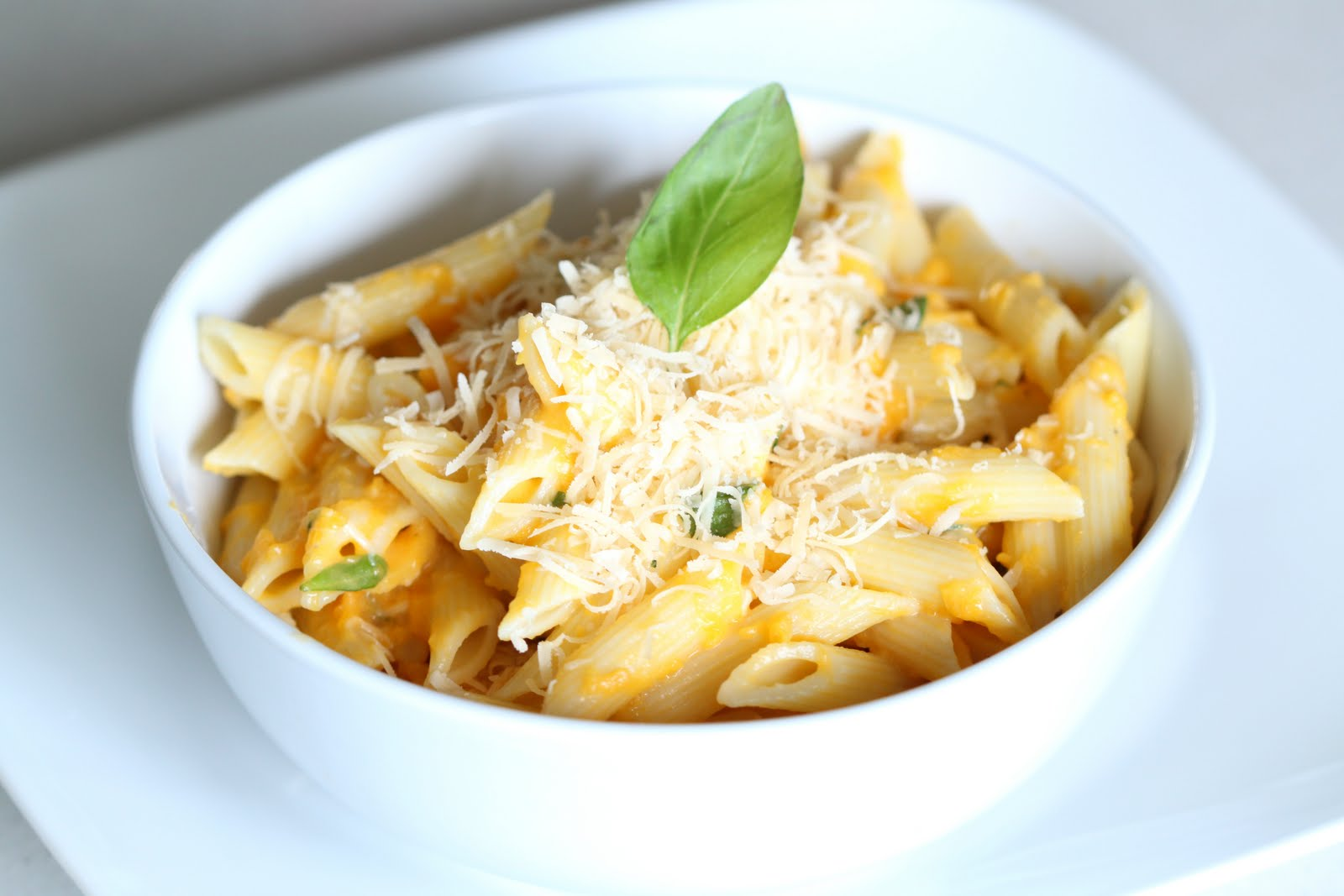 Penne with Pumpkin-Basil Cream Sauce | Wandering Spice