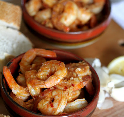 Gambas al Ajillo, Prawns with Garlic