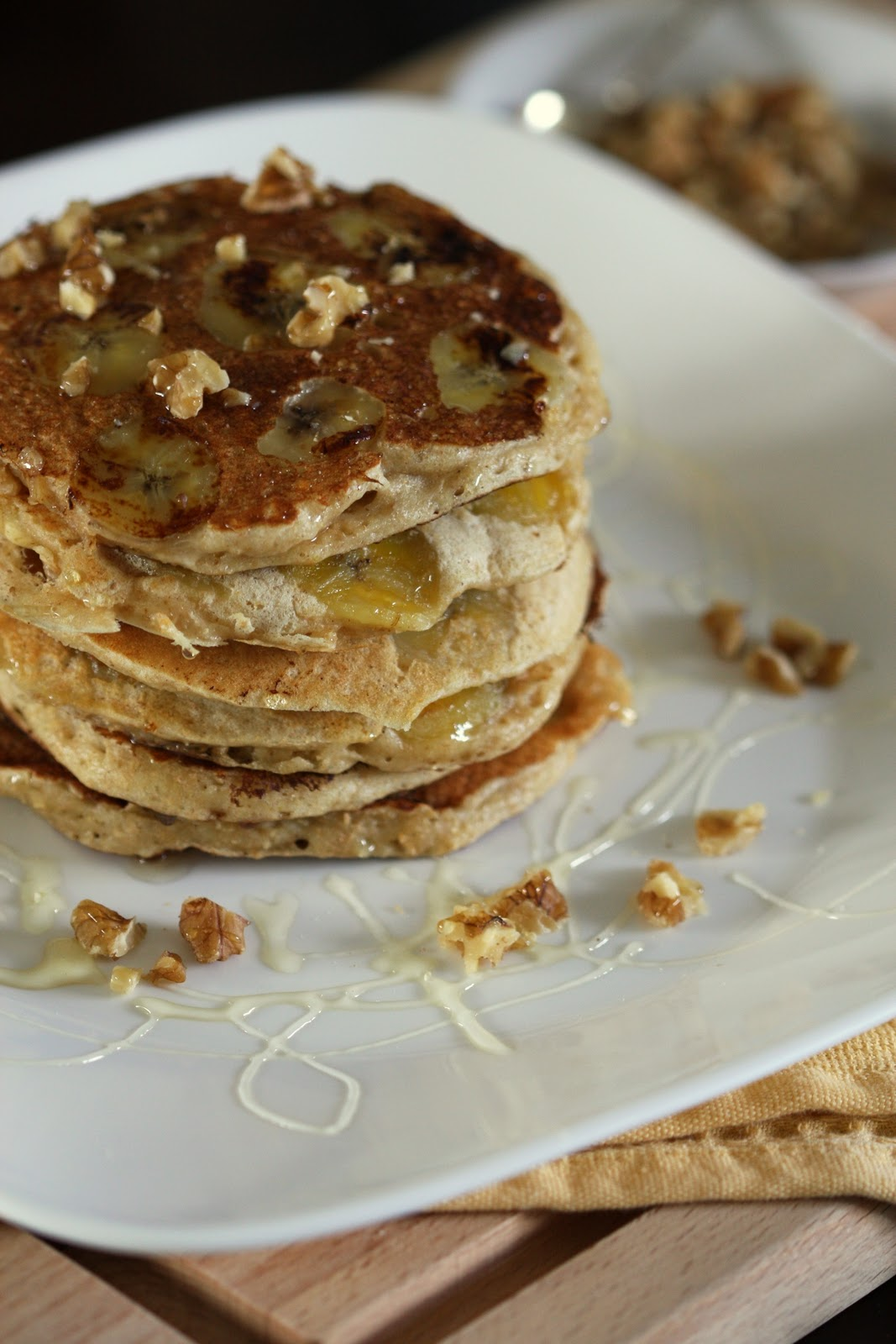 Whole Wheat Buttermilk-Banana Pancakes | Wandering Spice