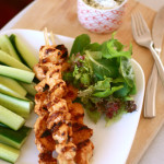 Yogurt-Marinated Chicken Shish Kebab