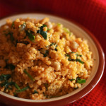 Tomato Bulgur with Spinach and Chickpeas