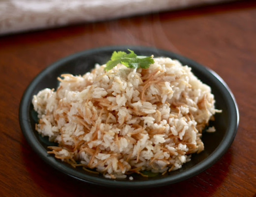 Vermicelli flecked rice | Wandering Spice