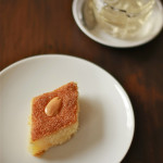Semolina and Coconut Slice with Orange Blossom Syrup (Namoura)