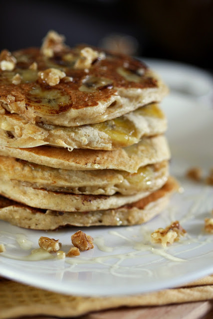 Whole Wheat Buttermilk Banana Pancakes. Tastes like the first time ...
