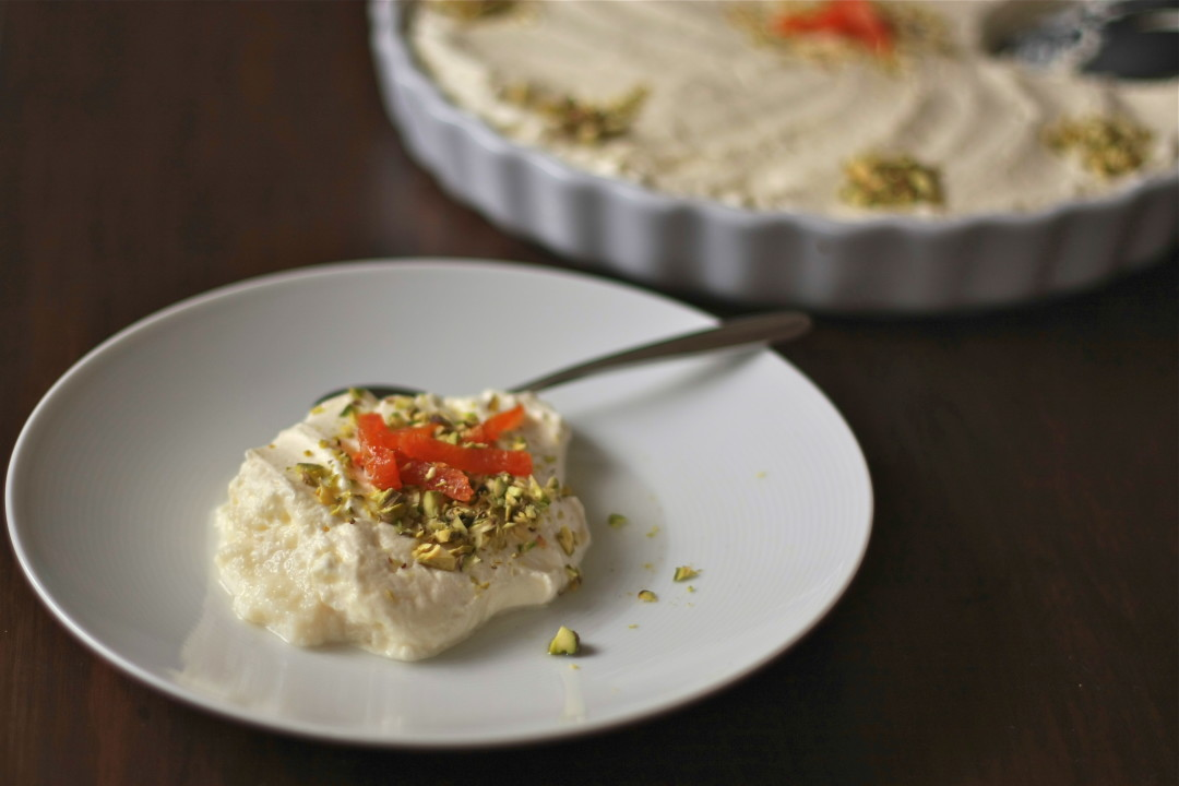Lebanese nights semolina pudding with pistachio and rose syrup lebanese nights semolina pudding wandering spice turns two forumfinder Choice Image