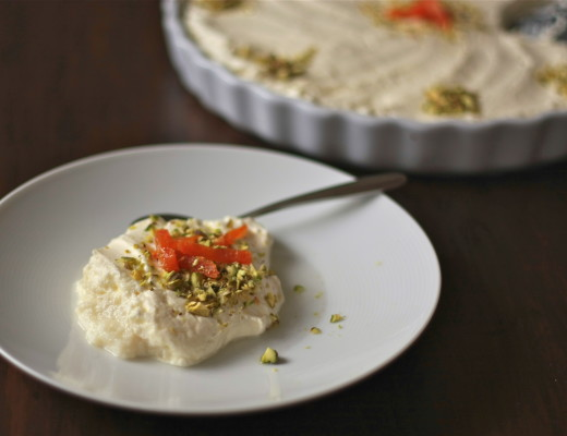 Layali Lubnan, Semolina Pudding with Apricots and Pistachio | Middle Eastern recipes by Wandering Spice