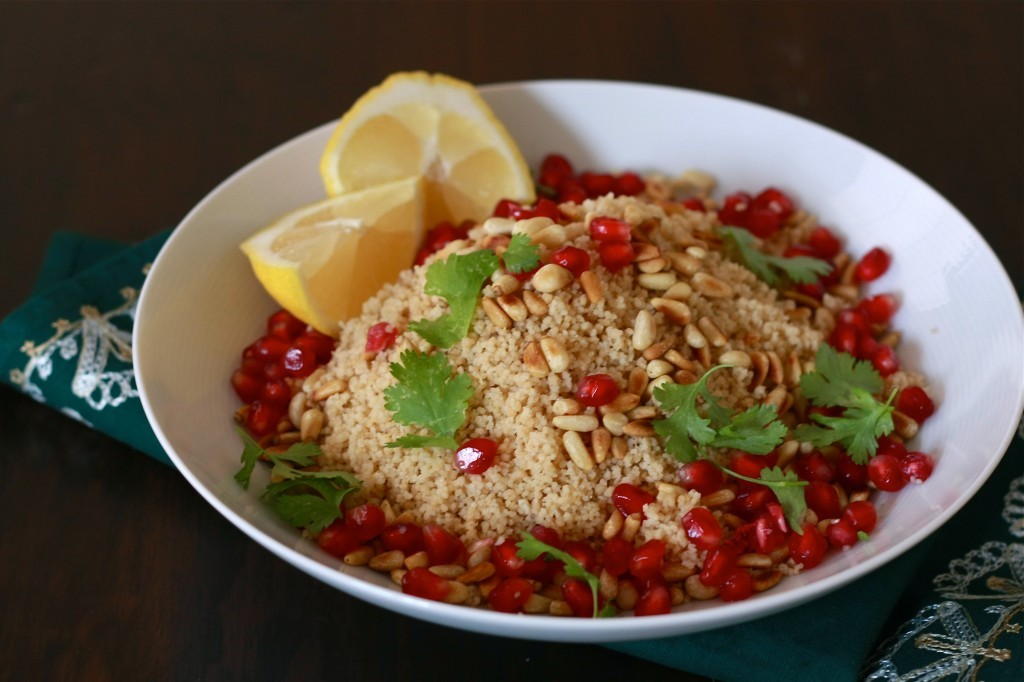 Cous Cous Salad with Pomegranate and Pine Nuts | Wandering Spice