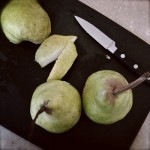 Pear, Chocolate and Almond Tart, in Instagram