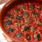 Baked Kofta in Spicy Tomato Sauce