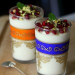 Labneh Mousse with Honey and Pomegranate