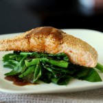 Sesame Crusted Salmon with Chinese Broccoli