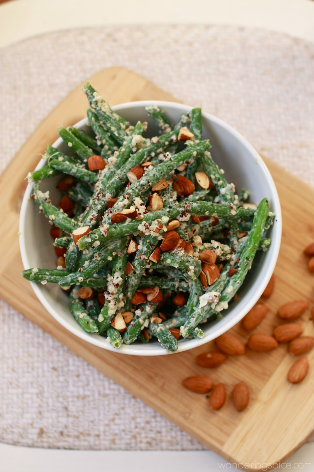 Quick Green Bean and Quinoa Salad with Toasted Almonds and Lemon ...