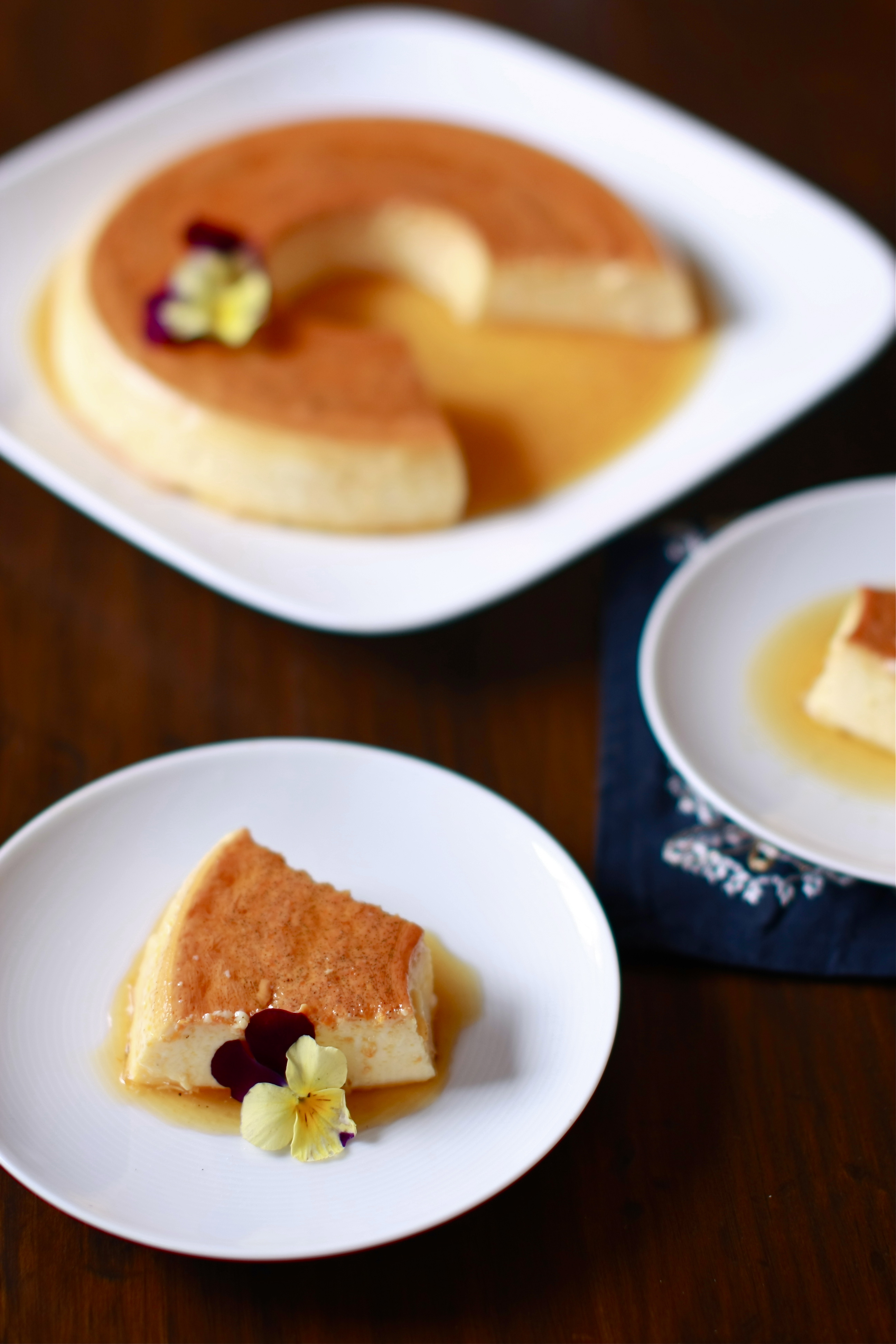 Classic Creme Caramel with Orange and Vanilla | Wandering Spice