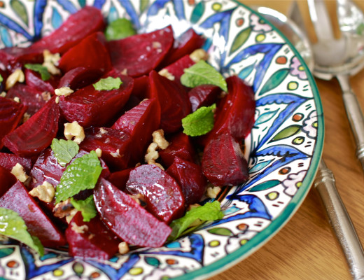 beets, roasted beets, walnuts, middle eastern