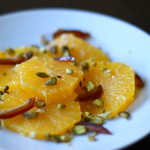 Orange, Date, Pistachio and Flower Water Salad