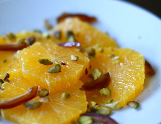 Orange, Date, Pistachio and Flower Water Salad | Wandering Spice