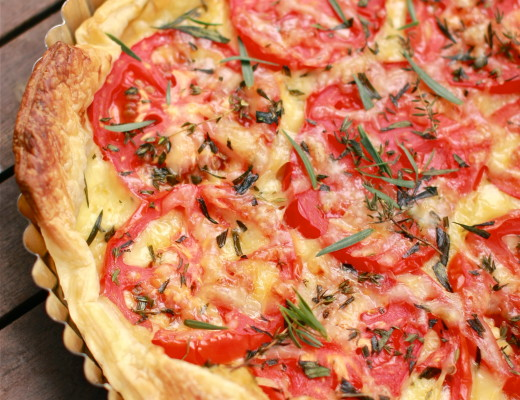 French Tomato and Dijon Tart