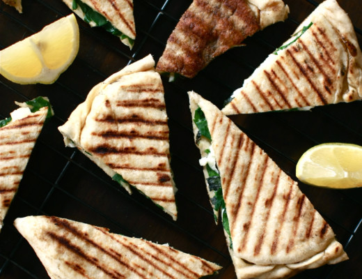 Spinach, Halloumi and Mint Gozleme | Wandering Spice