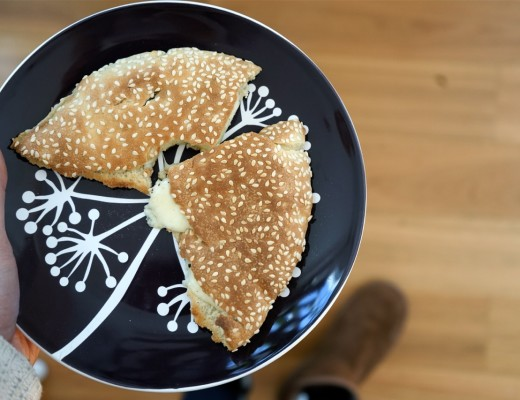 Sesame bread & kashkaval grilled cheese   Wandering Spice
