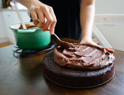 Chocolate Olive Oil Cake with Salted Chocolate Ganache   Wandering Spice