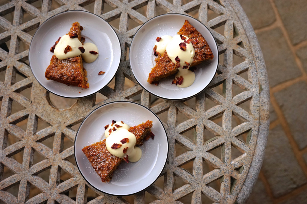 Persian Carrot, Pistachio and Almond Cake with Rose Cream | Wandering ...