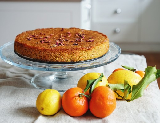 Gluten free citrus cake with citrus-cardamom syrup | Wandering Spice