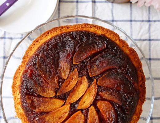 Toffee apple upside down cake | Wandering Spice